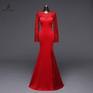 Image 4 - Poems Songs Slit Side Open  Mermaid  Evening Dress prom gowns Formal Party dress vestido de festa Elegant Vintage robe longue