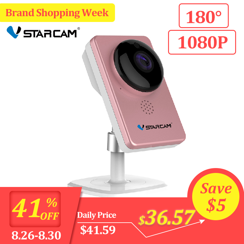 VStarcam WiFi Mini Camera Panoramic Infrared Night Vision Wireless Motion Alarm Video Monitor IP Camera C60S Pink-in Surveillance Cameras from Security & Protection
