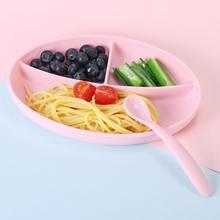 10 комплектов Детская силиконовая обеденная тарелка bpa бесплатные