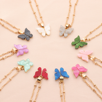 Delicate Cute Butterfly Necklace for Women Street Style Choker Necklace Korean Fashion Pendant Necklace Jewelry Gifts for Women delicate alloy geometric necklace for women