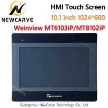 Mt6103ip mt8102ip hmi tela de toque 10.1 polegada 1024*600 ethernet usb substituir mt6100i weinview/weintek newcarve