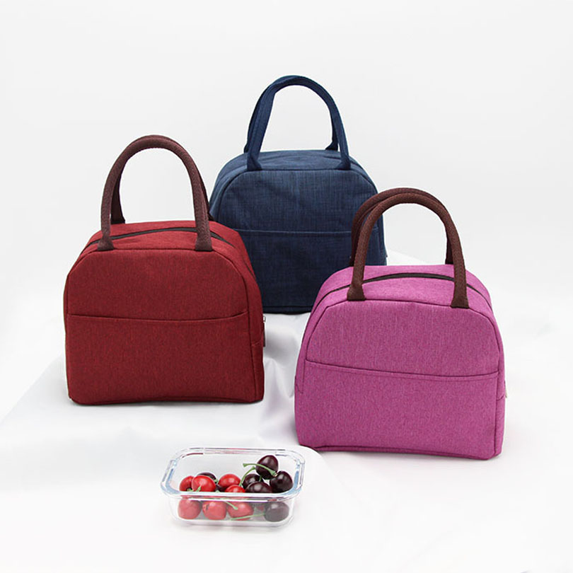 Fashion Portable Cooler Lunch Bag Thermal Insulated Travel Tote Bags Large Food Picnic Lunch Box Bag For Men Women Kids