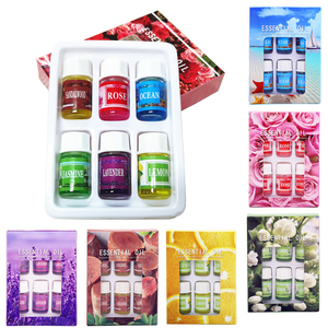 6 Bottles Essential Oil Humidifier Water Soluble Natural Fragrance Makeup Care Relax Essential Oil Maintenance TSLM1