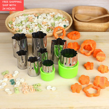 Mold Gadgets Vegetable-Cutter Kitchen-Tool Flowers Fruit Baking Plastic-Handle Household