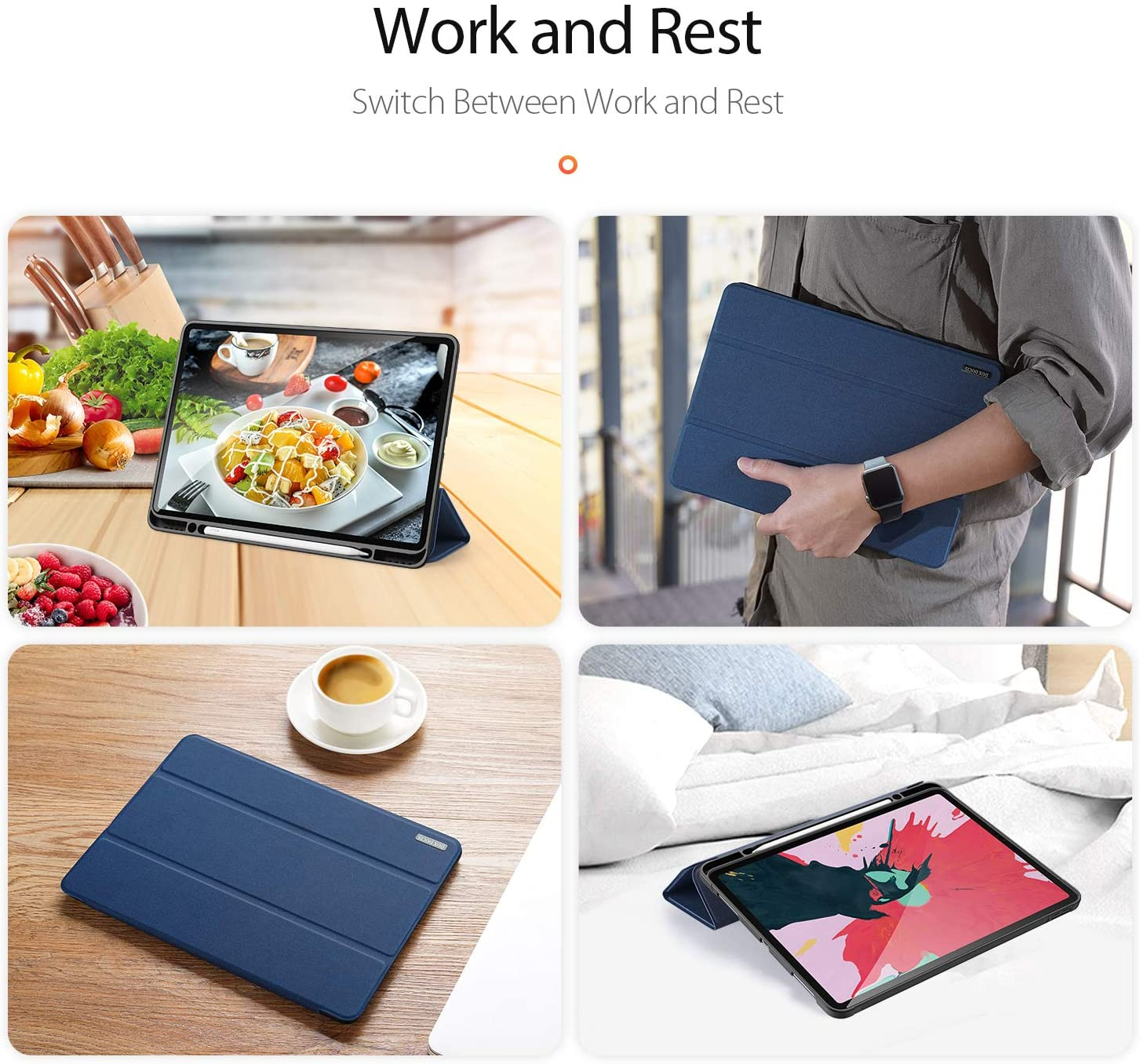 Cover 2020 Auto Sleep/Wake For Case up Case Pro Holder,Smart Trifold iPad Pencil 12.9