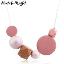 Женское Ожерелье конфетного цвета из смолы эффектное ожерелье