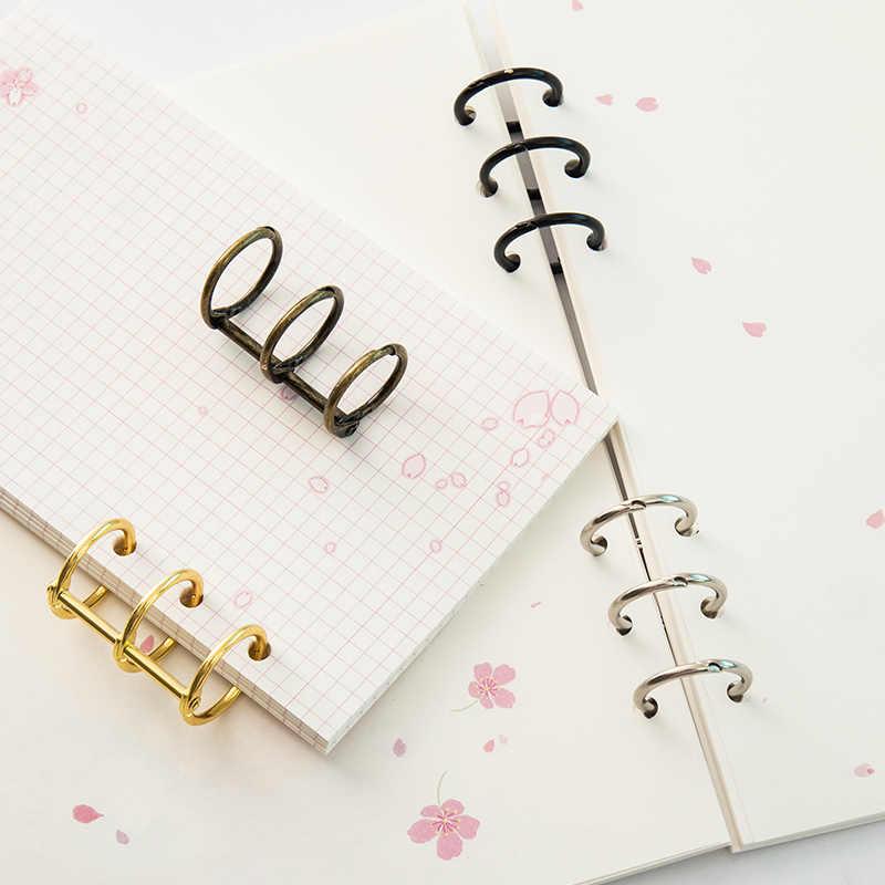 2 Pcs Fashion Logam Loose Leaf Binder Buku Hinged Cincin Album Scrapbook Klip Kerajinan Album Foto Cincin Logam Binder Meja kalender