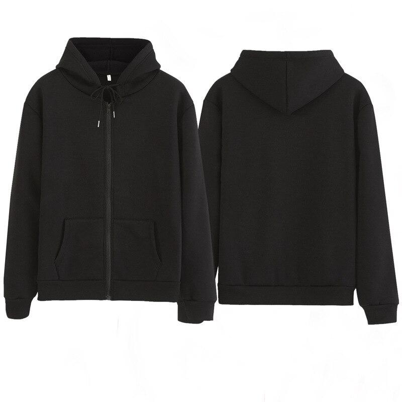 Women Sweatshirt Casual Solid Colors Oversized Full Zip-Up Hoodies Jacket 2020 Winter Velvet Thickening Warm Tops Long Sleeve 7