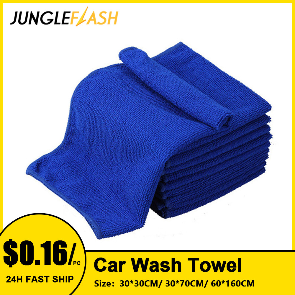 JUNGLEFLASH 6PCS Microfibre Cleaning Auto Soft Cloth Washing Cloth Towel Duster Car Home Cleaning Micro Fiber Towels