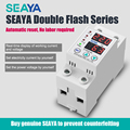 SEAYA 3rd Voltage Relay 220v Din Rail Dual Display Adjustable Over Voltage Current And Under Voltage Protective Device Protector
