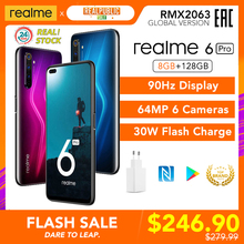 realme 6 Pro 6pro Global Version 8GB RAM 128GB ROM 90Hz Display Snapdragon 720G 30W Fast Charge 64MP Camera NFC Play Store