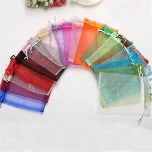 25/50pcs Organza Bag 7x9 10x15 13x18CM Jewelry Packaging Bags Wedding Party Decoration Drawstring Bags Tulle Gift Pouches 50%