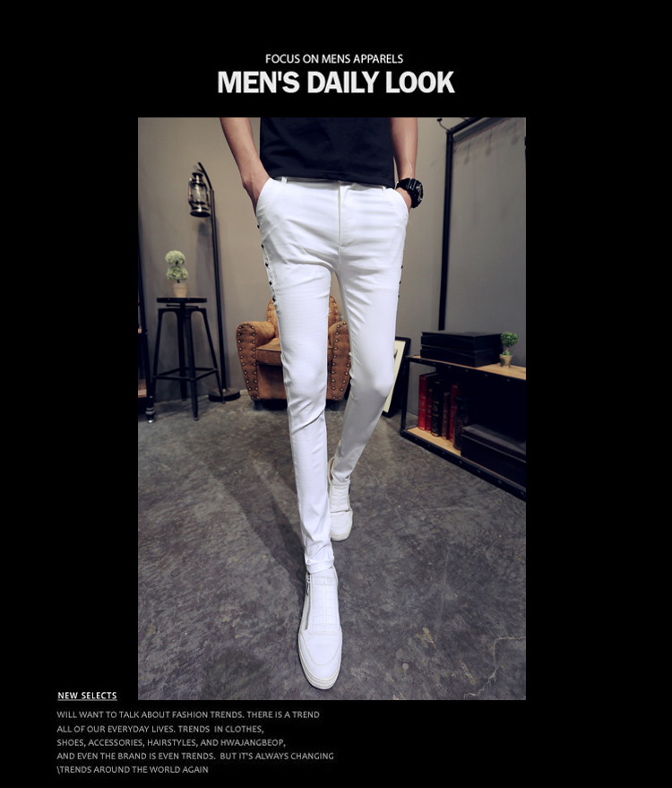 Brand New Men Summer Pants Fashion 2020 All Match Skinny Pants Men Streetwear Casual Trousers Men Hot Sale 15