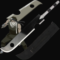 Free Shipping For Naruto Momochi Zabuza Sword Anime Kirigakure no Kijin Cosplay Steel Supply Prop With Bag Decorative No Sharp