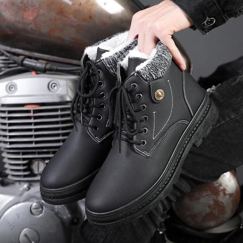 de neve inverno sapatos de couro para