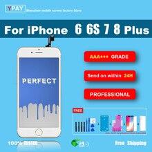 Sınıf AAA + + + iPhone 6S için artı LCD ekran 3D dokunmatik ekran Digitizer için iPhone 6 artı 7 artı 8 artı NoDead piksel + hediye