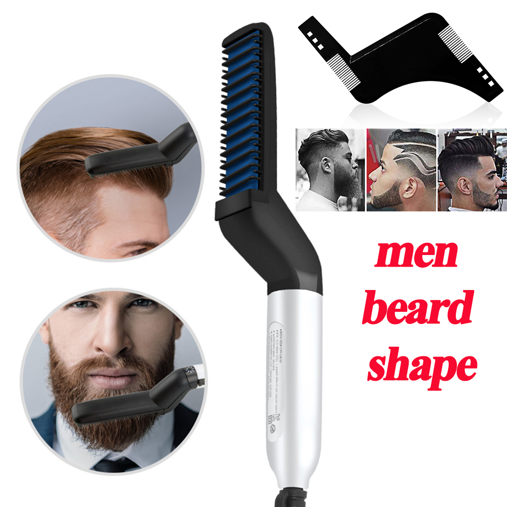 FOR MG Beard Straightener Hair Straighten Straightening Comb Multifunctional Hair Comb Brush Hair Curler Quick Hair Styler