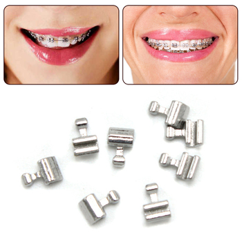 10pcs Dental Orthodontic Lingual Buttons Double-winged Tongue Dental Lingual Buttons Traction Hook Eyelet Dental Buttons image