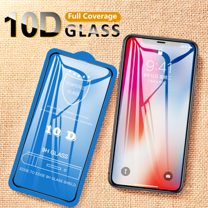 Image 5 - 50Pcs 10D Full Coverage Tempered Glass For iPhone 12 Mini 11 Pro XS Max XR X 8 Plus 7 6 6S SE 2020 Cover Screen Protector Film