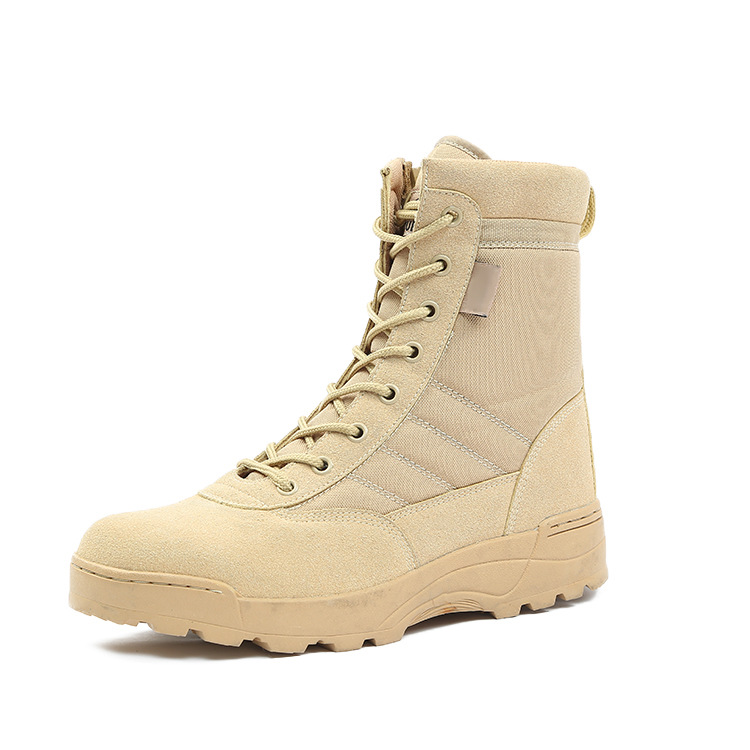 MYMQ Spring And Autumn Special Forces Combat Boots Men's Outdoor Casual  Boots Hight-top Breathable Tactical  Combat