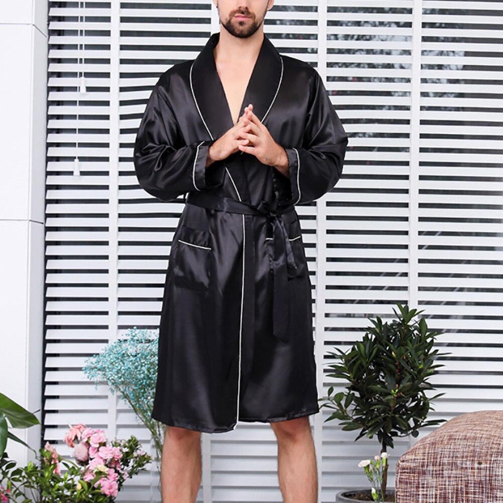 seda do falso pijamas para homens conforto