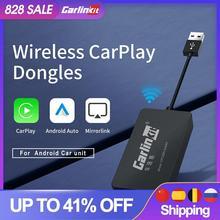 Carlinkit USB Dongle Carplay Android Box Carpaly AI Box Wireless Mirrorlink Car Multimedia Player Kit di connessione automatica Bluetooth