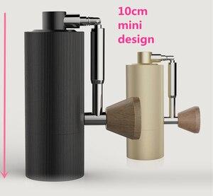 Image 5 - 1pc nano חדש מתקפל MYY48 אלומיניום נייד קפה מטחנת פלדה שחיקה סופר ידנית קפה מיל Dulex נושאות ממליץ