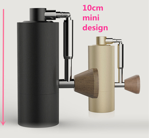 Image 5 - 1pc nano New foldable MYY48 Aluminum portable coffee grinder steel grinding super manual coffee mill Dulex bearing recommend