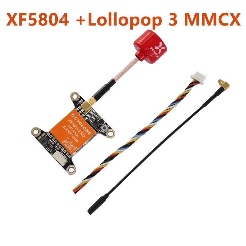 Видеопередатчик Cyclone XF5804 PRO FPV Foxeer Lollipop с 3 антеннами, 5,8 ГГц, 48 каналов, 25/200/600 мВт, переключаемый OSD Регулируемый SMA MMCX VTX