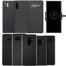 אמיתי סיבי פחמן Kaloar 0.6mm Thiness Slim מגן Case כיסוי עבור Samsung Galaxy S8 S9 S10 בתוספת הערה 8 9 10 בתוספת