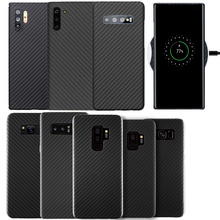 Kaloar funda protectora fina de fibra de carbono para Samsung, protector de 0,6mm, para Galaxy S8, S9, S10 Plus, Note 8, 9, 10 Plus