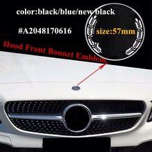 1 шт. значок-эмблема передней капота автомобиля значок-эмблема плоская Эмблема для Benz W204 W205 W212 W213 W238 новый класс C E