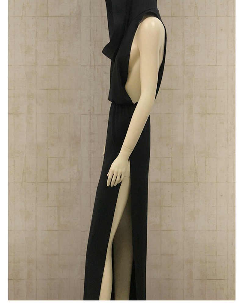 เซ็กซี่ V คอ Hoodies แขนกุด Slim ผู้หญิงเครื่องแต่งกายผู้หญิงผู้ใหญ่คอสเพลย์ Gothic Backless Tops PARTY Night Club Vestidos