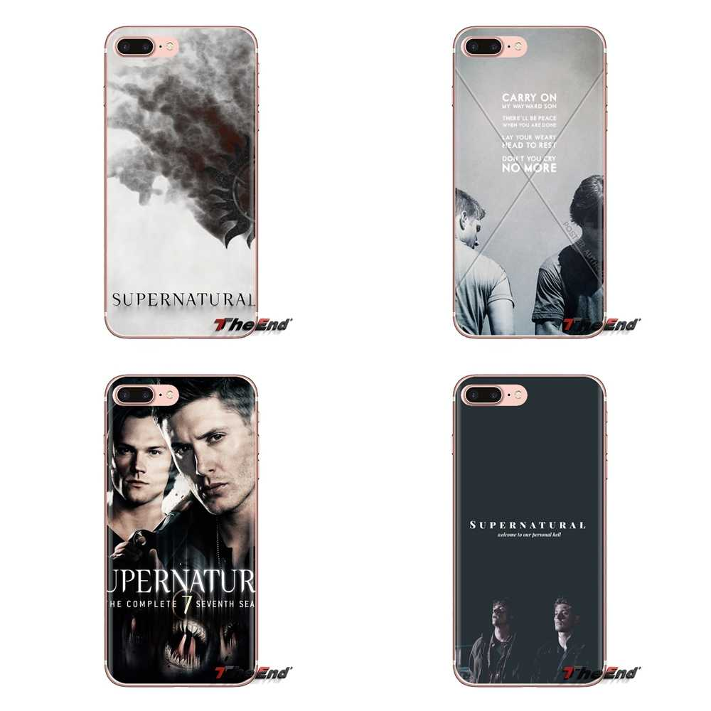 Untuk Xiao Mi Mi 4 MI 5 MI 5S MI 6 Mi A1 A2 5X 6X 8 9 Lite se Pro Mi Max Mi X 2 3 2S Silicone Shell Kasus Supernatural iPhone Wallpaper