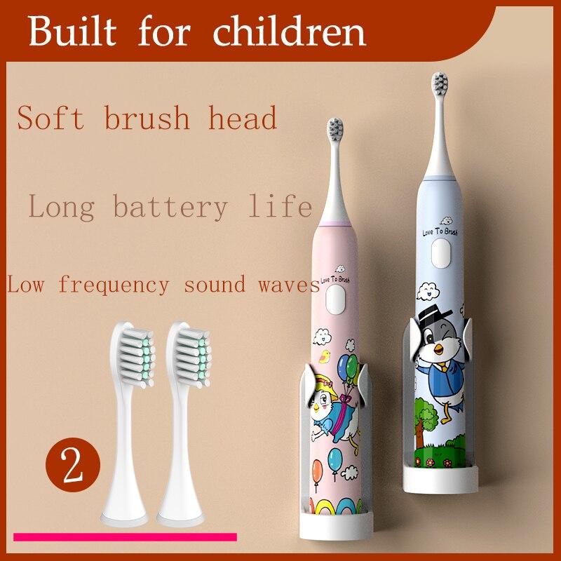 Умная электрическая зубная щетка Xiguan 360 градусов, Детская силиконовая автоматическая ультразвуковая зубная щетка, Детская сменная зубная щ...