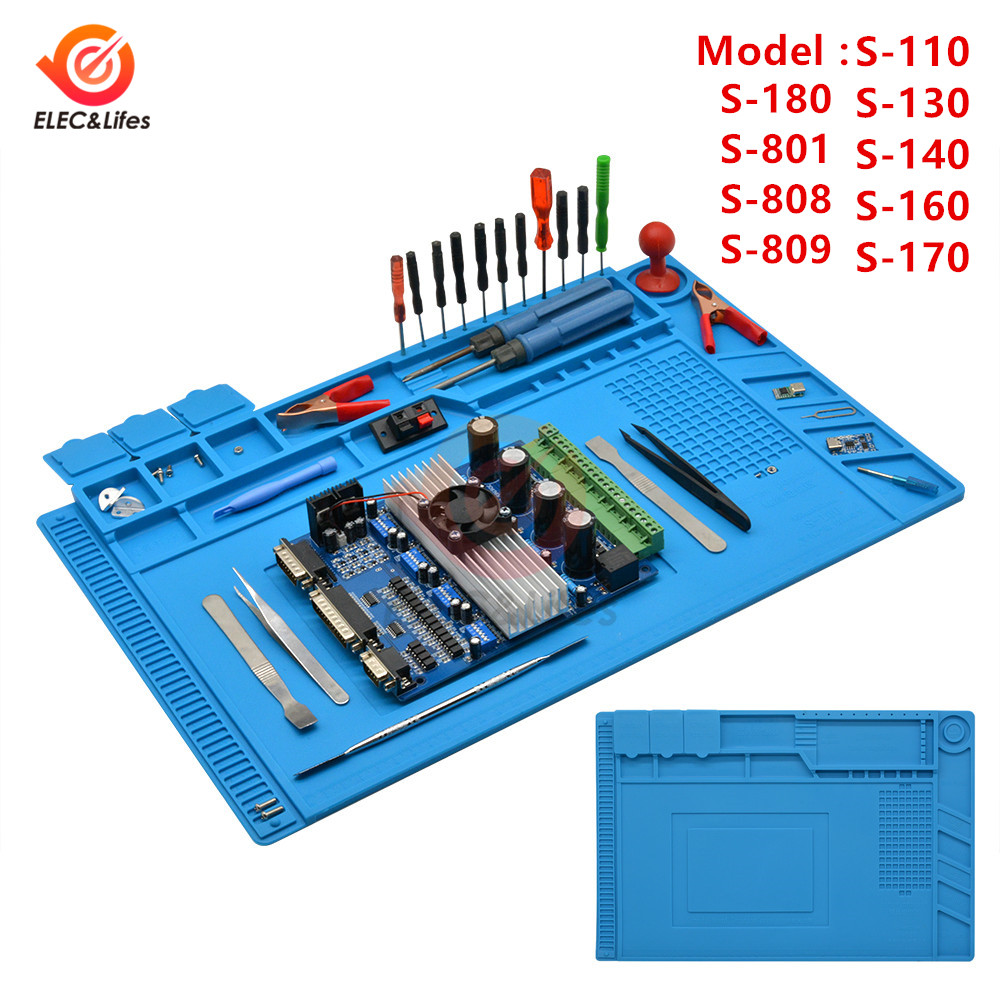 Heat Insulation Silicone Working Mat Heat-resistant Soldering Station Repair Insulator Pad Mobile Phone BGA PCB Soldering Repair