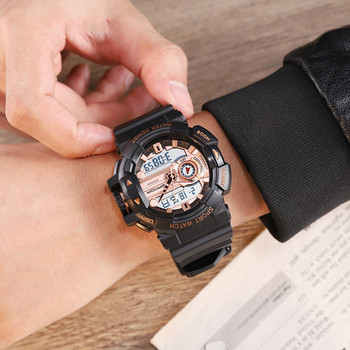 Новые модные спортивные многофункциональные электронные часы, парные популярные мужские водонепроницаемые часы