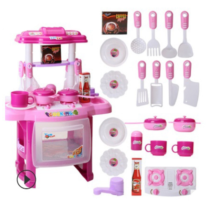 Children's <font><b>kitchen</b></font> <font><b>toy</b></font> Simulation <font><b>Kitchen</b></font> Cooking Utensils Play House Children's Simulation Lighting Sound <font><b>Kitchen</b></font> <font><b>Toy</b></font> <font><b>Set</b></font> image