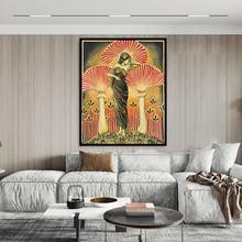 Soma – affiche de déesse païen, mythologie murale, Art Nouveau, champignon psychédélique, bohème, peinture sur toile