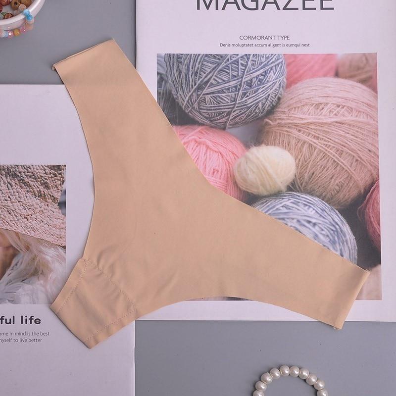 Hot Silk Sexy Women Thongs g string Seamless Panties Female Underwear Tanga Panties Low-Rise Lingerie Panty Intimates 1pcs