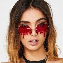 Tears Shape Steampunk Sunglasses Women 2020 Luxury Brand Rim