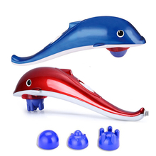 цена на Multifunctional dolphin massager red light massage stick magnetic therapy infrared physiotherapy electric massage hammer
