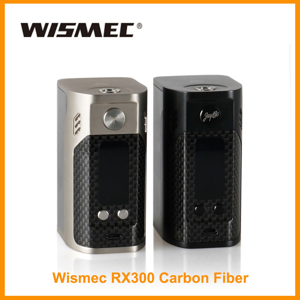 Clearance Wismec Reuleaux RX300 TC Box Mod Carbon Fiber Output 300W Wattage TC/VW Mode Vs RX GEN3 Dual Electronic Cigarette Mods