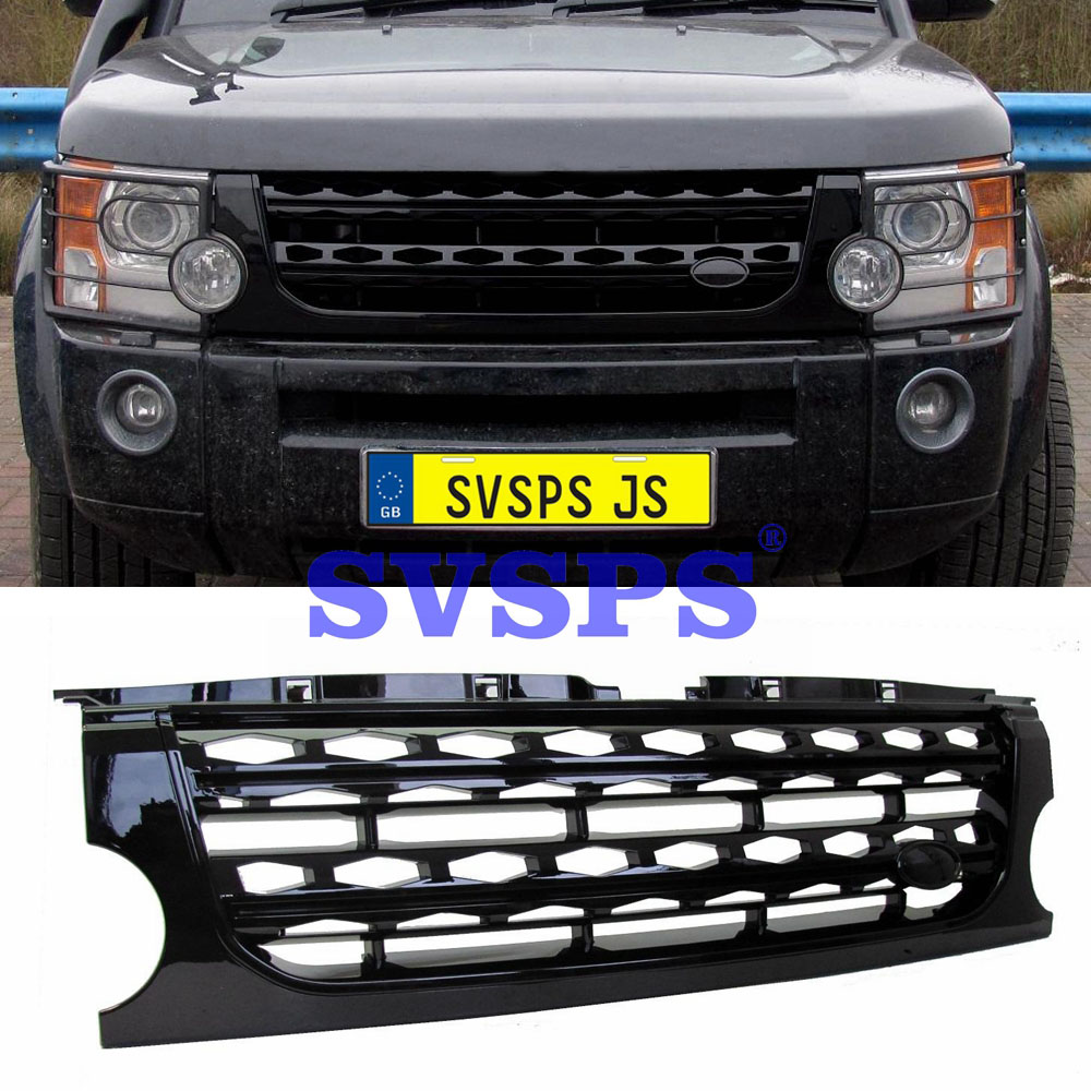 Tuning Front middle Grille ABS Auto Parts Fit For Land Rover Discovery 3 LR3 2003 2009 Refit Bumper Front Grille Mesh Grill Vent|Racing Grills| |  - title=