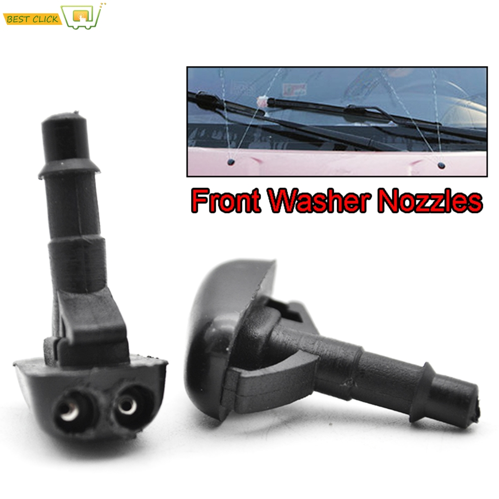 Misima 2Pcs Front Windscreen Washer Jet Nozzle For Mitsubishi Pajero V31 V33 V73 Colt L200 Lancer Strada Eclipse 3000GT Carisma-in Car Stickers from Automobiles & Motorcycles