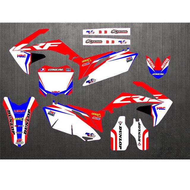 Autocollants graphiques de care de Honda CRF450R   Étiquette personnalisée pour Honda CRF250R 2009-2012, kit de décoration personnel, 2010 - 2013