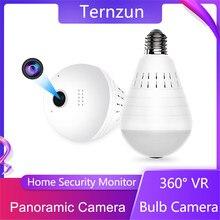 360 ° fisheye câmera panorâmica wifi 2 em 1 câmera ip sem fio lâmpada de iluminação app visualização remota vigilância vídeo de segurança em casa