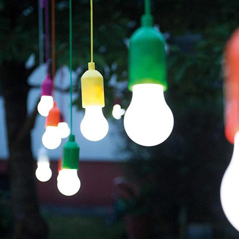 Creative Pull Light Bulb LED Hanging Light Bulb Battery Powered Colorful Pull Cord Bulbs Support Dropshipping