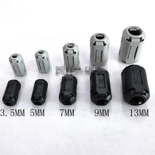 Fit-Cable Ferrite-Core NOISE-SUPPRESSOR-FILTER 10pcs Black Cord Gray Dia 1330A/B 9/13mm