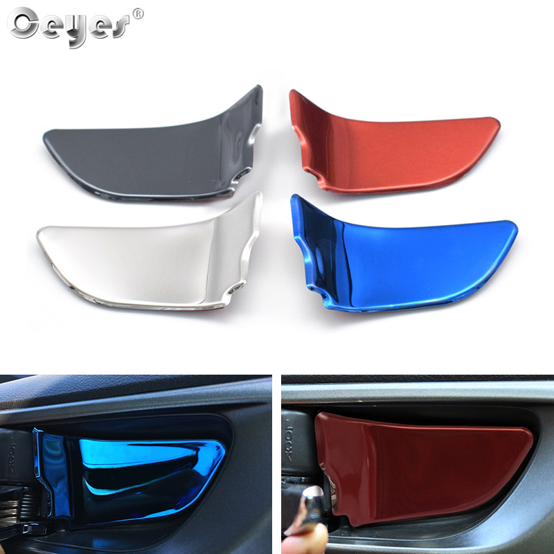 Ceyes 4pcs For Subaru Xv Impreza Sti Brz Wrx Forester Outback Legacy Car Accessories Door Bowl Handle Covers Trim Auto Stickers